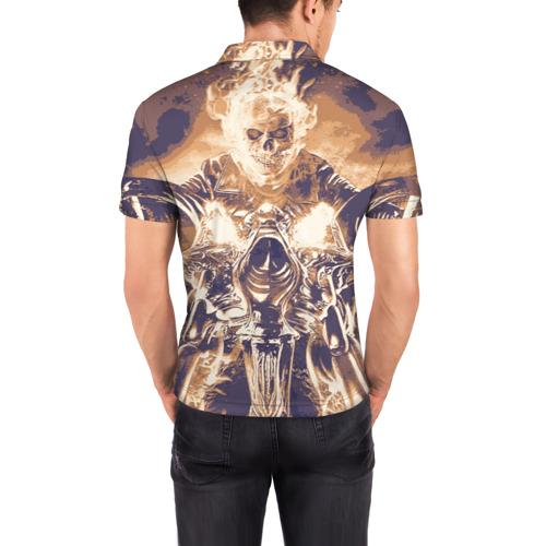 "Мужская рубашка поло 3D  Фото 04, Ghost Rider \""Sollievo\"""