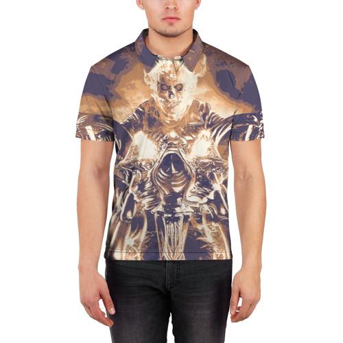 "Мужская рубашка поло 3D  Фото 03, Ghost Rider \""Sollievo\"""