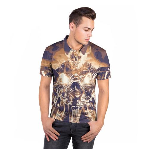 "Мужская рубашка поло 3D  Фото 05, Ghost Rider \""Sollievo\"""