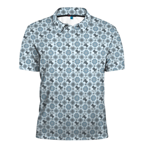 Мужская рубашка поло 3D  Фото 01, Олени