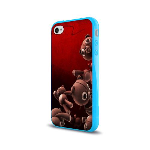 Чехол для Apple iPhone 4/4S силиконовый глянцевый Плюшевые мишки Фото 01