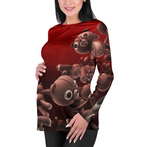 Женский лонгслив 3D для беременных  Фото 01, Плюшевые мишки