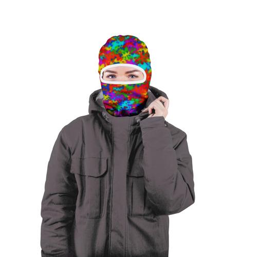Балаклава 3D  Фото 04, Радужный камуфляж