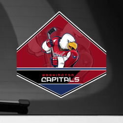 Наклейка на автомобиль NHL: Washington Capitals