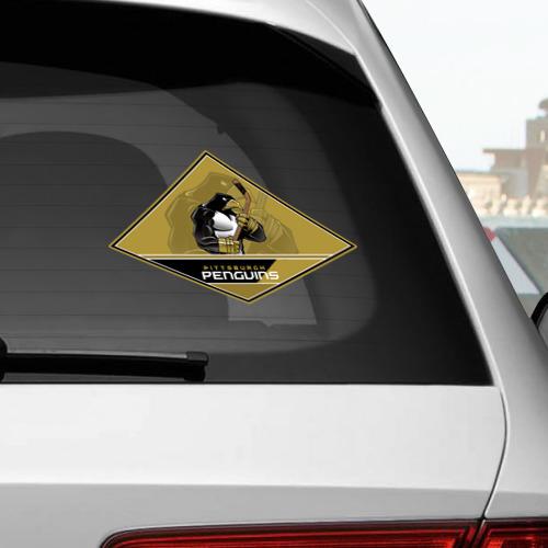 Наклейка на автомобиль NHL: Pittsburgh PENGUINS Фото 01