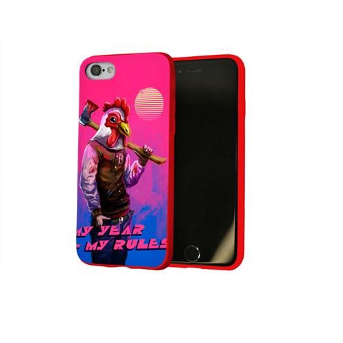 Чехол для Apple iPhone 8 силиконовый глянцевый My Year, my rules! Фото 01