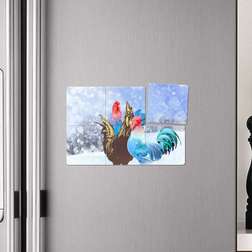 Магнитный плакат 3Х2  Фото 04, Зимние курочки