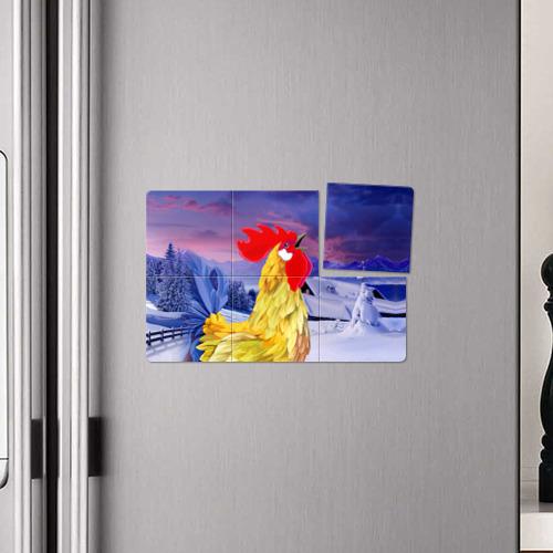 Магнитный плакат 3Х2  Фото 04, Петушок красный гребешок