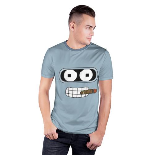 Мужская футболка 3D спортивная  Фото 03, Bender