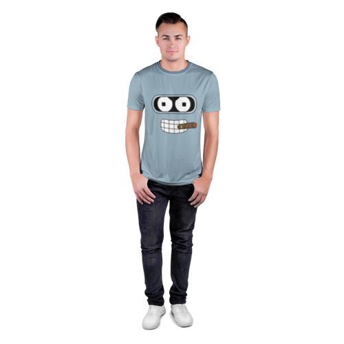 Мужская футболка 3D спортивная  Фото 04, Bender