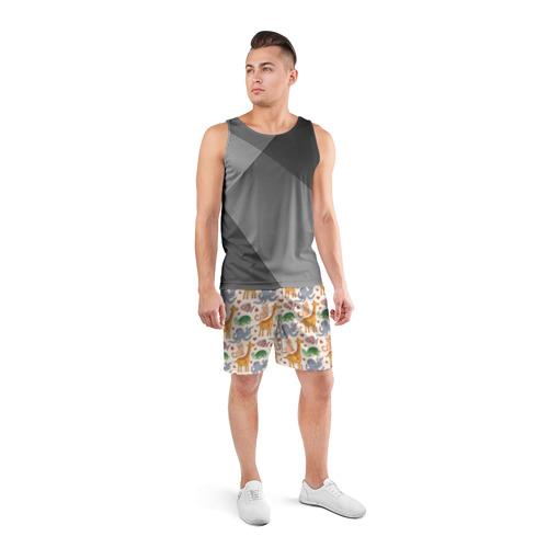 Мужские шорты 3D спортивные  Фото 04, Животные