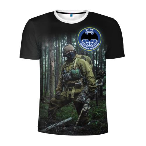 Мужская футболка 3D спортивная  Фото 01, Военная разведка