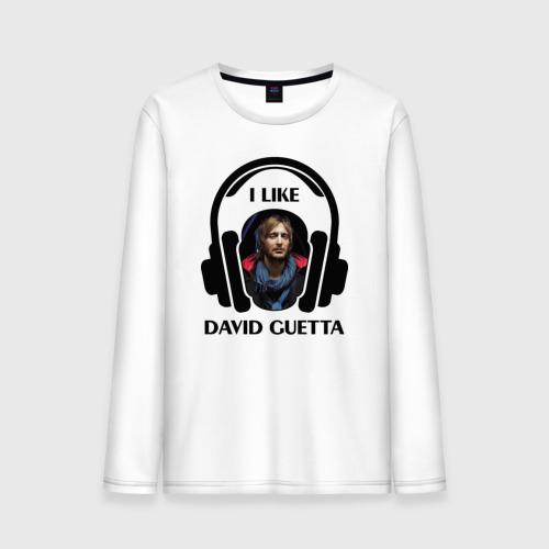 Мужской лонгслив хлопок  Фото 01, I like David Guetta
