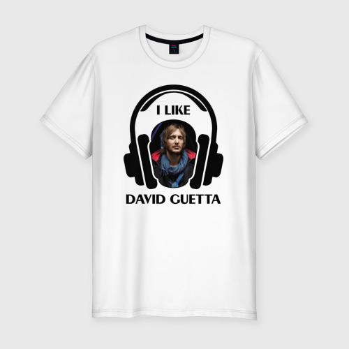 Мужская футболка премиум  Фото 01, I like David Guetta