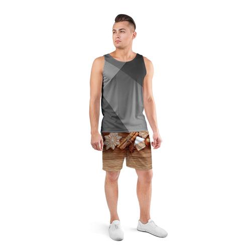 Мужские шорты 3D спортивные  Фото 04, Коричные пряники