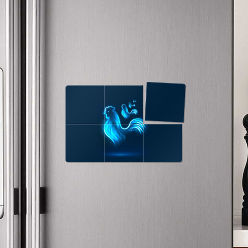 Магнитный плакат 3Х2  Фото 04, Петух. Символ 2017 года 5