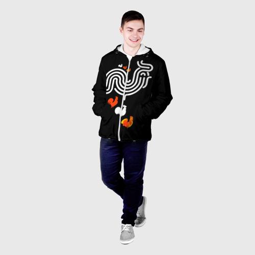 Мужская куртка 3D  Фото 03, Петух. Символ 2017 года 9