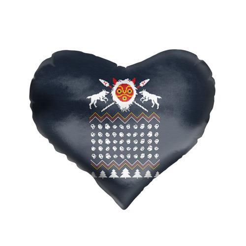 Подушка 3D сердце  Фото 01, Новогодний свитер Принцесса Мононоке