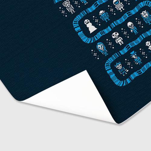 Бумага для упаковки 3D  Фото 03, Новогодний свитер Доктор Кто