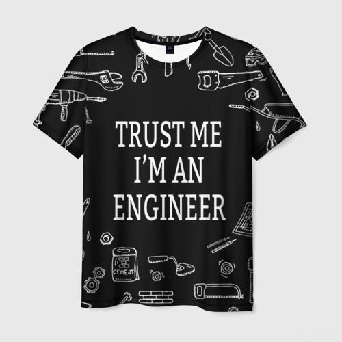 Мужская футболка 3D Строитель 13