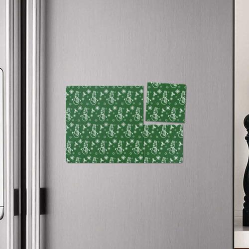 Магнитный плакат 3Х2  Фото 04, Новогодний узор