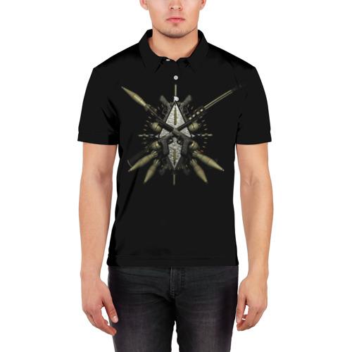 Мужская рубашка поло 3D  Фото 03, Оружие