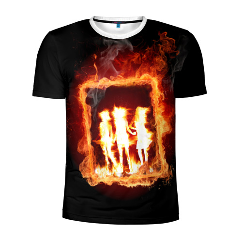 Мужская футболка 3D спортивная Трио Хэллоуин