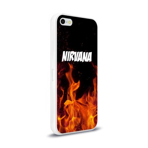 Чехол для Apple iPhone 5/5S силиконовый глянцевый  Фото 02, Нирвана