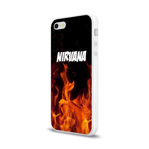 Чехол для Apple iPhone 5/5S силиконовый глянцевый  Фото 03, Нирвана