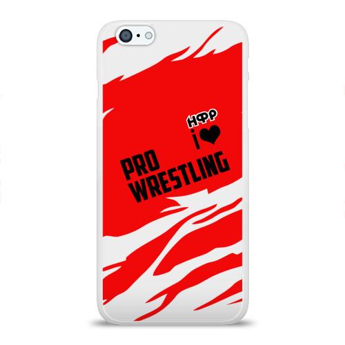 Чехол для Apple iPhone 6Plus/6SPlus силиконовый глянцевый  Фото 01, НФР: I Love Pro Wrestling
