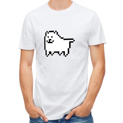 Мужская футболка полусинтетическая  Фото 01, Undertale game  doge