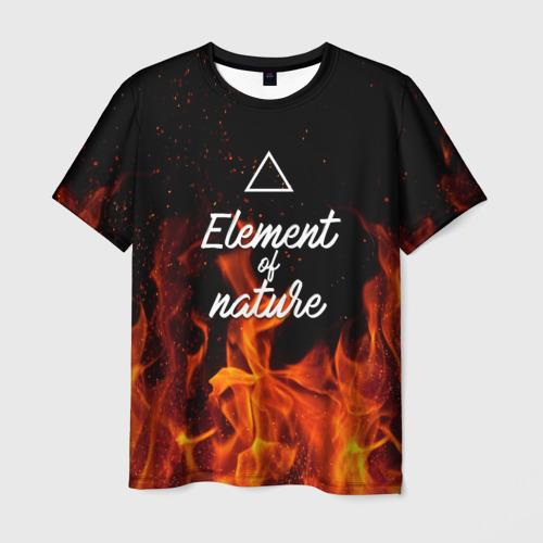 Мужская футболка 3D  Фото 01, Стихия огня