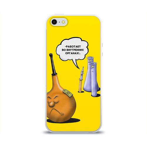 Чехол для Apple iPhone 5/5S силиконовый глянцевый  Фото 01, Во внутренних органах