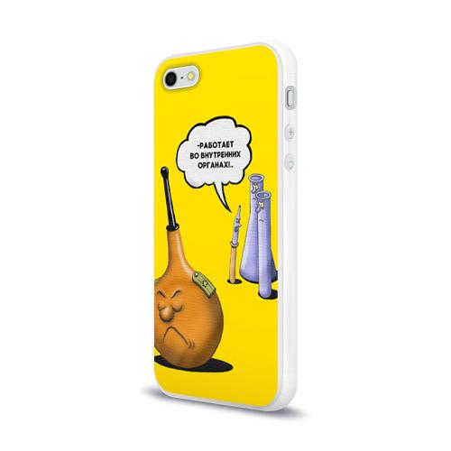 Чехол для Apple iPhone 5/5S силиконовый глянцевый  Фото 03, Во внутренних органах