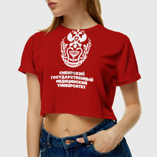 Женская футболка 3D укороченная  Фото 01, СГМУ