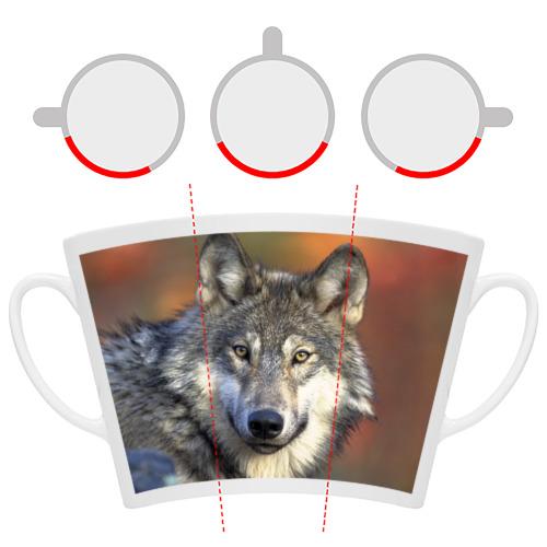 Кружка Латте Волк Фото 01
