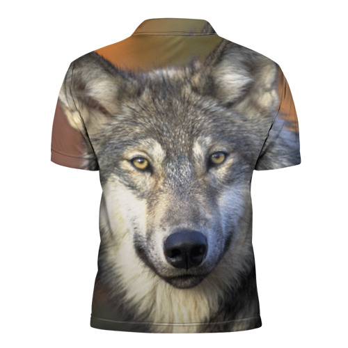 Мужская рубашка поло 3D  Фото 02, Волк