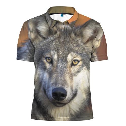 Мужская рубашка поло 3D  Фото 01, Волк