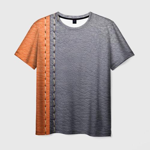Мужская футболка 3D Кожа