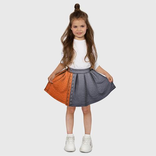 Детская юбка-солнце 3D  Фото 03, Кожа