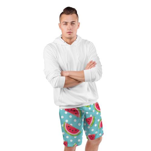 Мужские шорты 3D спортивные  Фото 05, Арбузный рай