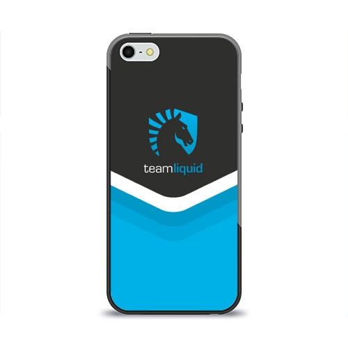 Чехол для Apple iPhone 5/5S силиконовый глянцевый Team Liquid Uniform Фото 01