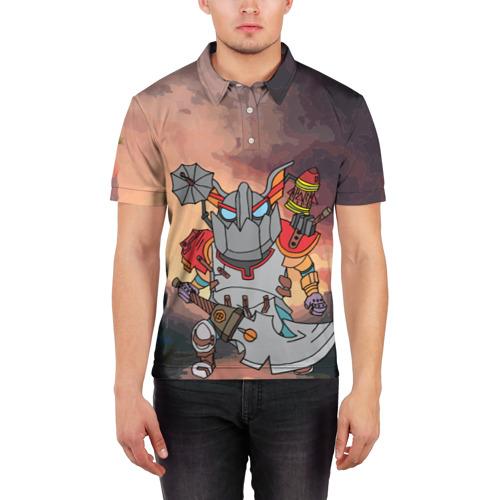 Мужская рубашка поло 3D  Фото 03, Фан Клокверк из Доты