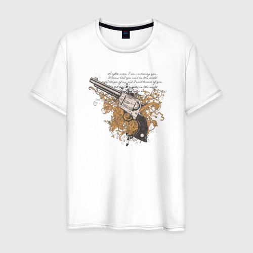 Мужская футболка хлопок Револьвер с узорами