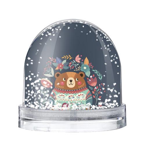 Водяной шар со снегом  Фото 01, Медведь