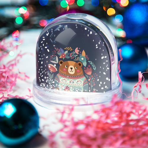 Водяной шар со снегом  Фото 03, Медведь