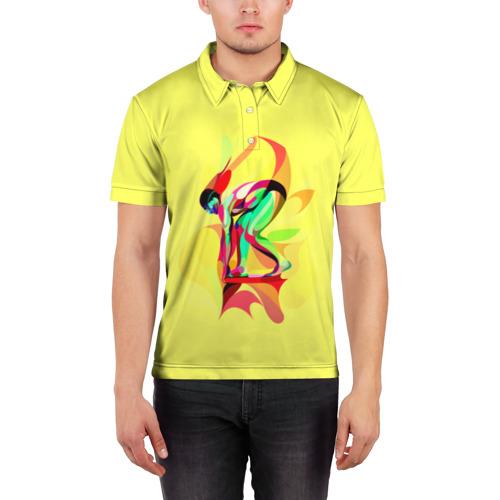 Мужская рубашка поло 3D  Фото 03, Плавание