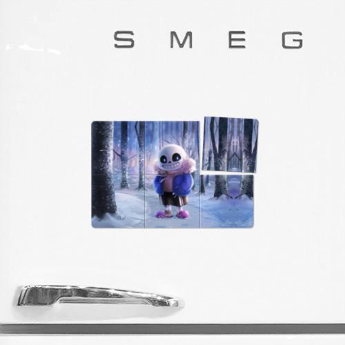 Магнитный плакат 3Х2  Фото 02, Winter forest & Sans