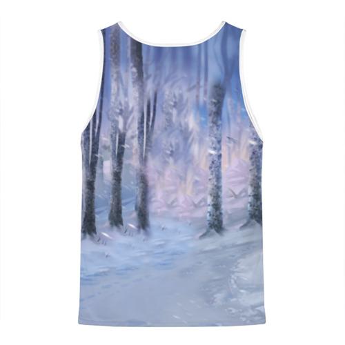 Мужская майка 3D Winter forest & Sans
