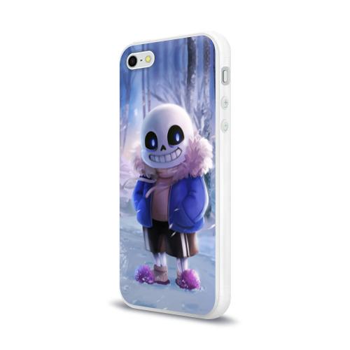 Чехол для Apple iPhone 5/5S силиконовый глянцевый  Фото 03, Winter forest & Sans